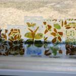 Vatlas tehtud klaasitöö käsitööseltsi aruande näitusel.